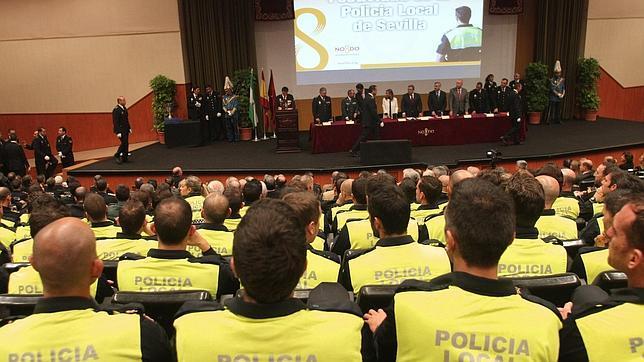 Agentes de la Policía Local en un acto del Cuerpo