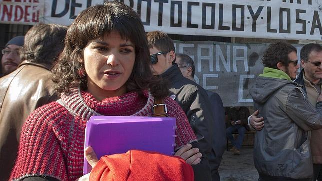 La europarlamentaria de Podemos y candidata a optar a la presidencia de la Junta, Teresa Rodríguez