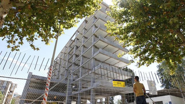 El edificio de la Normal, en obras