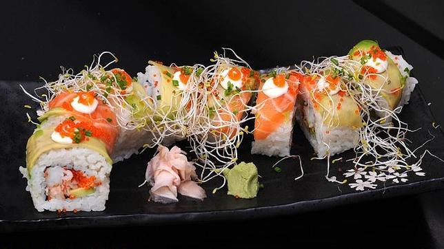 La cocina japonesa mezcla sabor y diseño. Fuente: Kakure Sushibar