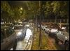 El corte en la avenida de Bueno Monreal produjo atascos de tráfico en las inmediaciones de la avenida de la Palmera. GOGO LOBATO
