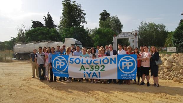 El PP de Sevilla ha hecho bandera de la reivindicación de la carretera entre Alcalá y Dos Hermanas