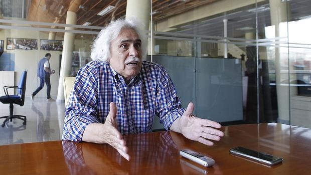 Rafael Gómez durante una entrevista concedida a ABC Córdoba en mayo de 2015