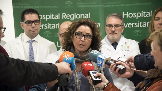 La viceconsejera de Salud, María Isabel Baena, en un acto sobre trasplantes en Málaga