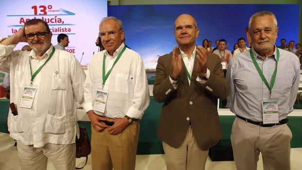 Rodríguez de la Borbolla, Guerra, Chaves y Griñán, esta mañana en el Congreso del PSOE-A