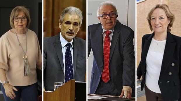 Adelaida de la Calle, Aquilino Alonso, José Sánchez Maldonado y Carmen Ortiz