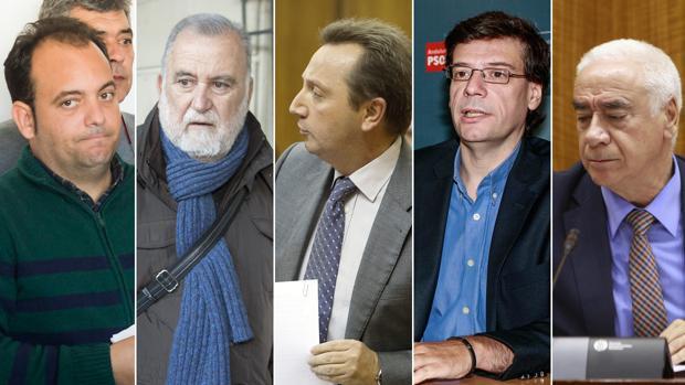 Agüera, Rodrigo Torrijos, Recio, Gómez y Alonso