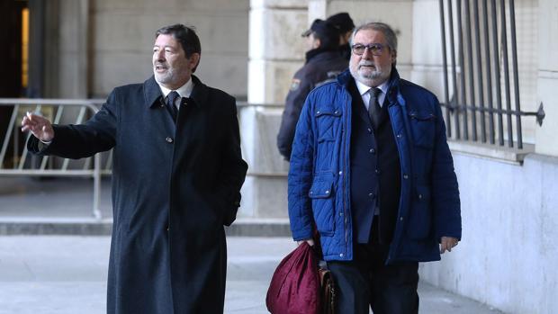 Francisco Javier Guerrero llegando a la Audiencia Provisional