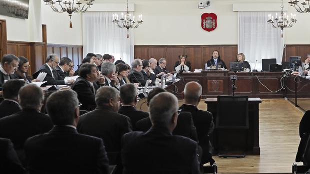 Sala de la Audiencia de Sevilla donde se celebra el juicio de la pieza política de los ERE