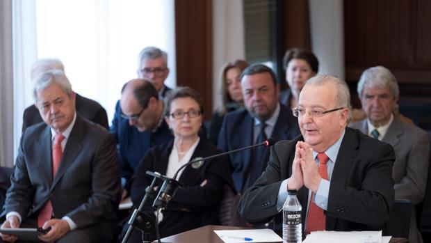 El ex consejero de Empleo Antonio Fernández, en el juicio de la pieza política del caso ERE
