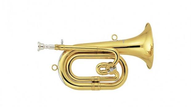 Una corneta como la que se habría usado para golpear