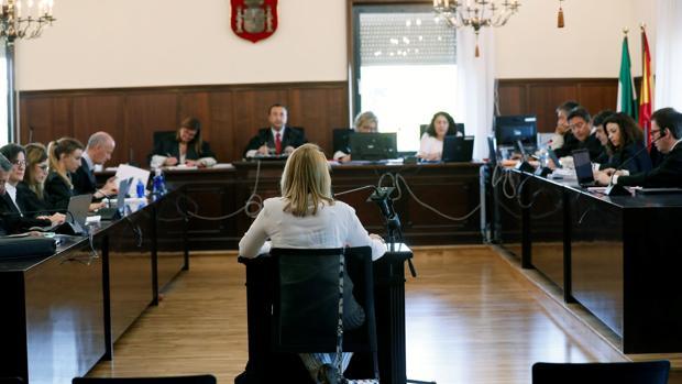 Una de las testigos en el juicio de la pieza política del caso ERE