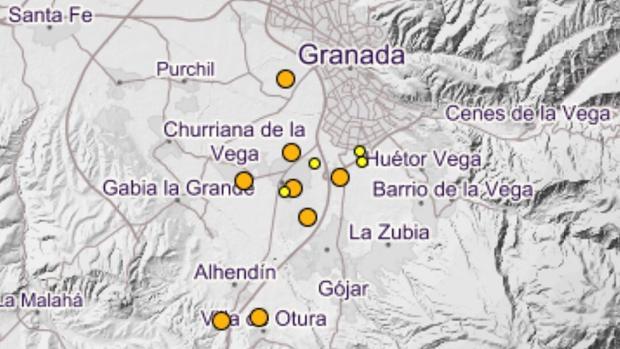 En los últimos días, la Vega de Granada ha sido el epicentro de una decena de sismos.