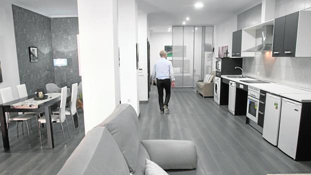 Imagen de uno de los «lofts» de Injupisa adaptados para personas con discapacidad