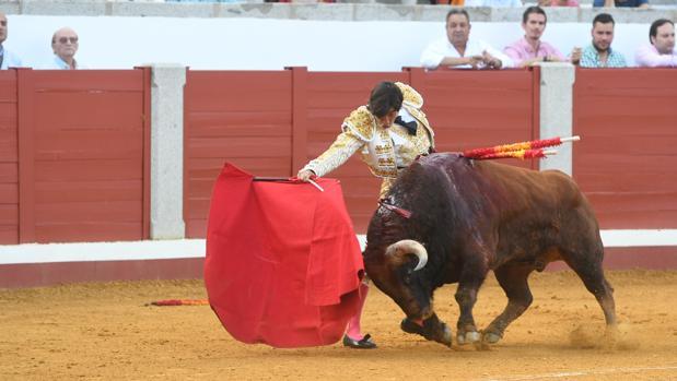 El diestro Curro Díaz en la plaza de Pozoblanco