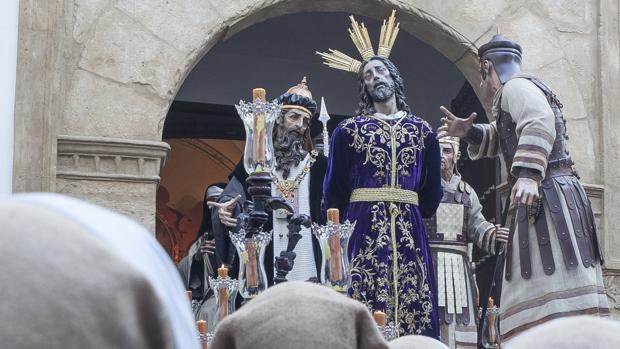 Salida de Nuestro Padre Jesús del Perdón en su salida procesional el Miércoles Santo