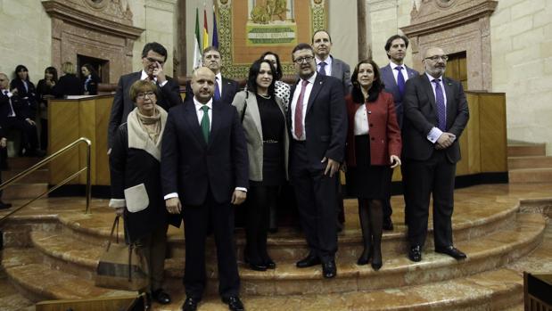 Los diputados de Vox en el Parlamento