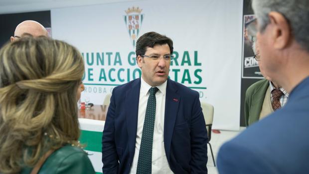 El presidente y máximo accionista del Córdoba CF, Jesús León