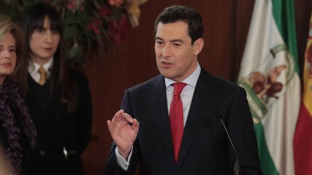 Moreno Bonilla, durante la toma de posesión