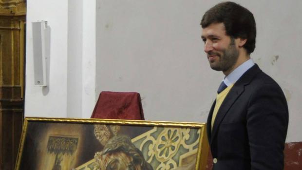 Juan Antonio Aguilar durante la presentación del cartel de los Estudiantes de Antequera