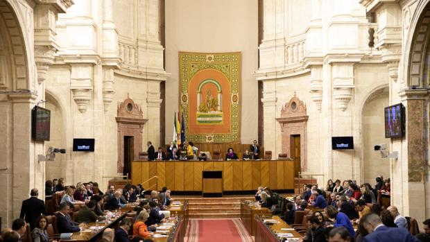 Imagen del salón de plenos del Parlamento en la sesión celebrada este miércoles