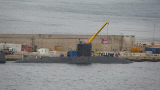 Imagen del «HMS Talent» en la base naval del Peñón el pasado mes de septiembre