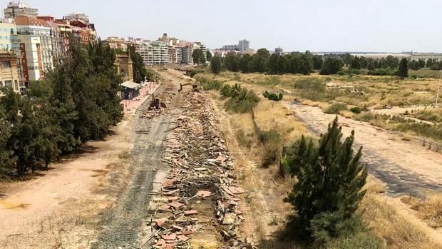 Vista de la zona de las viejas vías