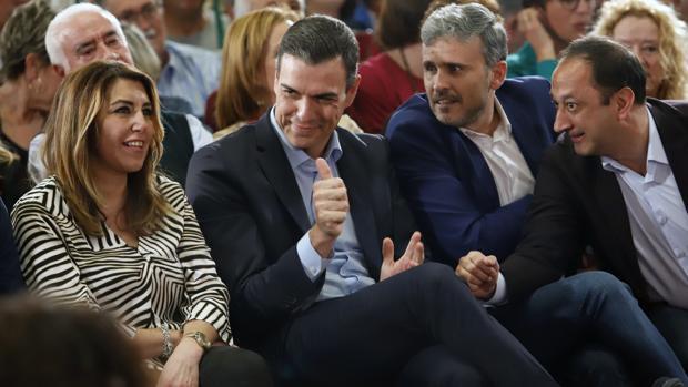Susana Díaz y Pedro Sánchez, en su último acto conjunto en Málaga