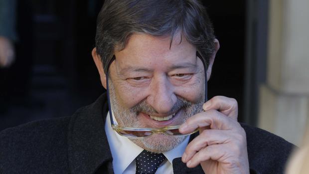 Francisco Javier Guerrero, a su salida de la Audiencia