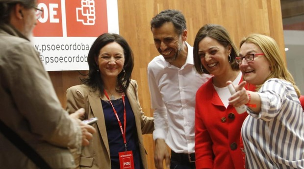 Ambrosio celebra en la sede del PSOE en Córdoba los resultados en Córdoba capital