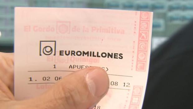 Un boleto del sorteo de Euromillones