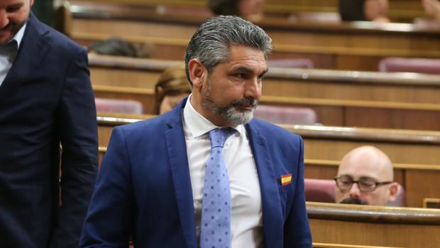 El parlamentario por Huelva, Juan José Cortés, en el Congreso de los Diputados