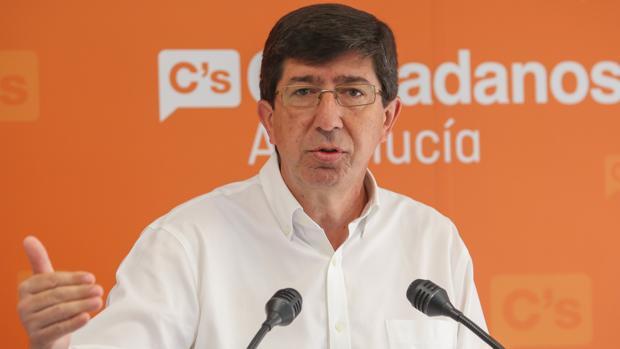 Juan Marín, líder de Ciudadanos, en la sede del partido