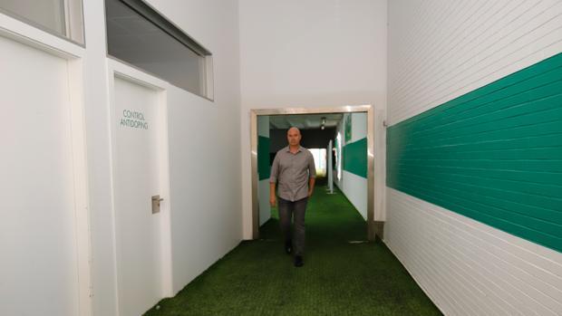 Rafael Berges, en el estadio