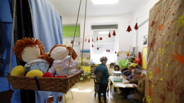 Decoración infantil en un colegio de Primaria de Córdoba