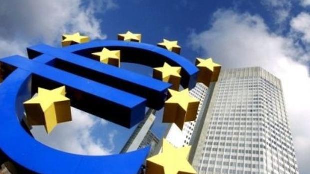 Símbolo del euro en Bruselas