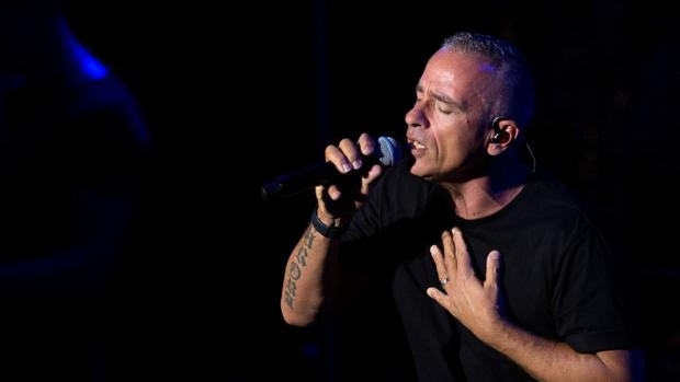 Ramazzotti, en un momento de su concierto del pasado domingo en Marbella