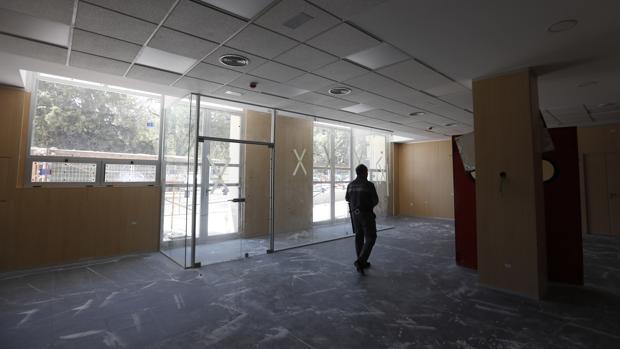 Instalaciones del nuevo hospital de día, que afronta la recta final de las obras