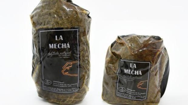 Dos paquetes de carne mechada de la marca «La Mechá»