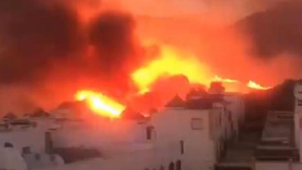 Uno de los incendios en Marbella