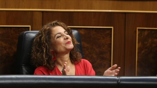 La ministra de Hacienda, María Jesús Montero, este miércoles en el Congreso de los Diputados