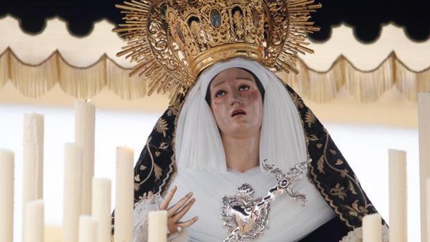 La Virgen del Mayor Dolor el pasado Miércoles Santo