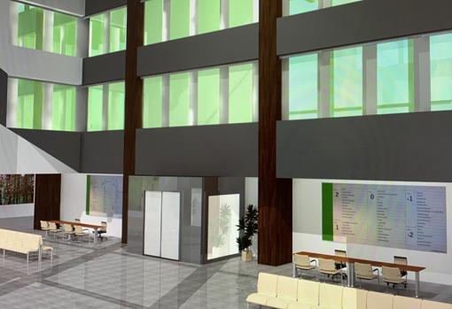 Interior del nuevo edifciio en una recreación virtual