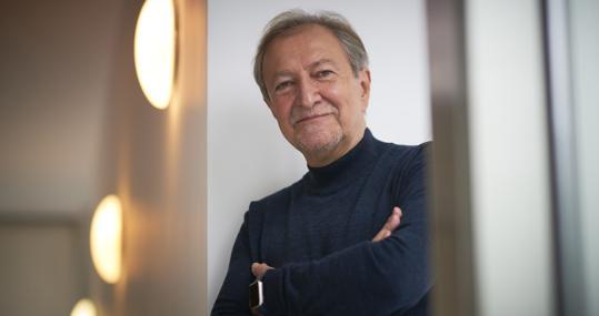 Paco Lobatón, durante la entrevista con ABC