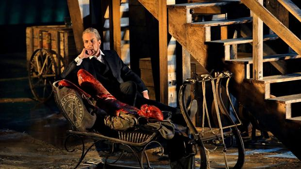 Escena de la ópera «La valquiria» de Wagner