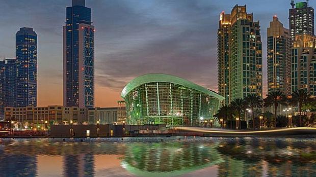 Imagen del edificio de la ópera de Dubai