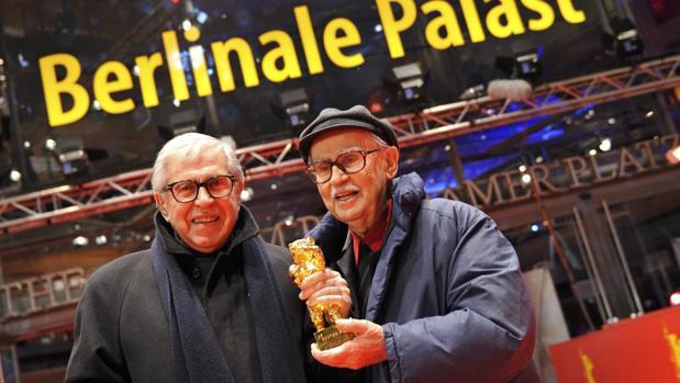 Los hermanos Taviani tras recibir en 2012 el Oso de Oro del Festival de Berlín