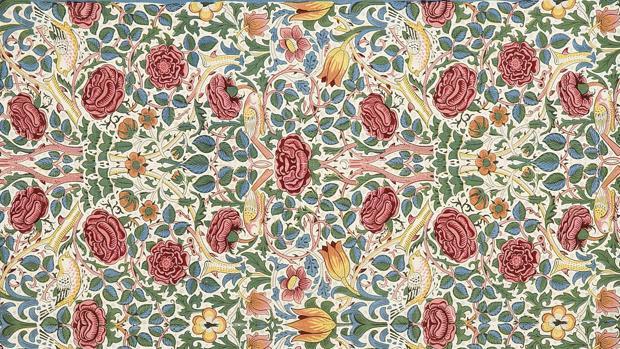 Tejido «Rose» de William Morris para Morris & Co.
