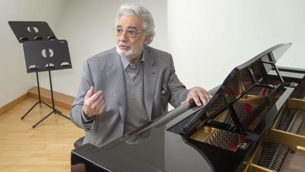 Plácido Domingo, en su camerino