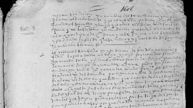 El documento de 1605 encontrado en el Archivo Municipal de La Campana